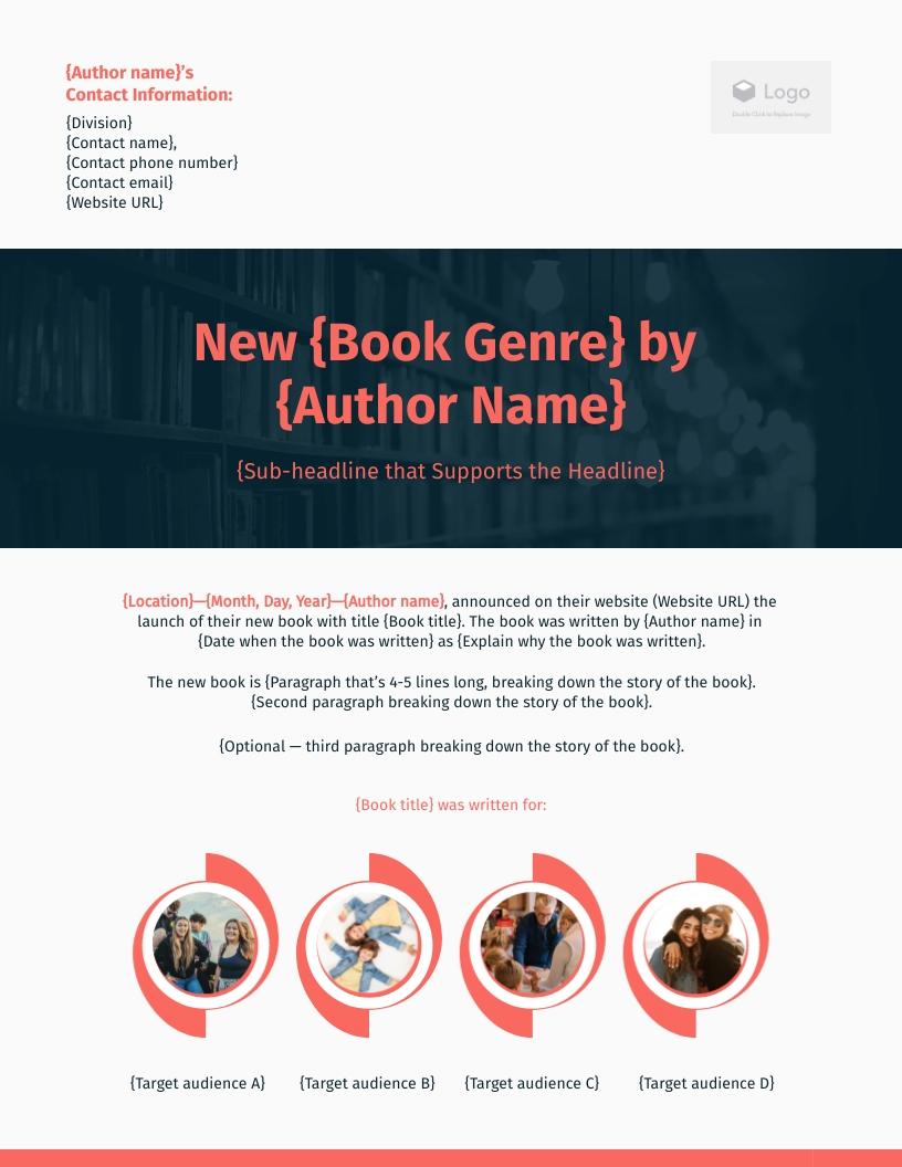 Book - Press Release Template