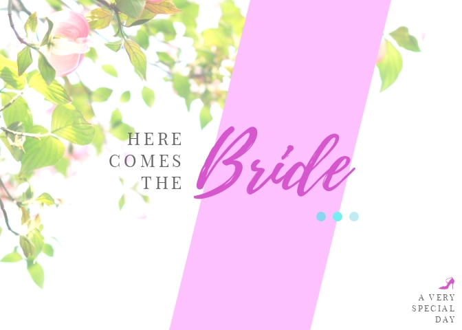 Bride Greeting Card Template
