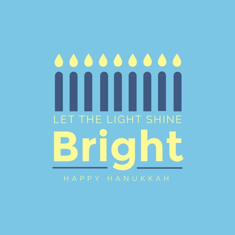 Bright Hanukkah Blog Graphic Medium Template