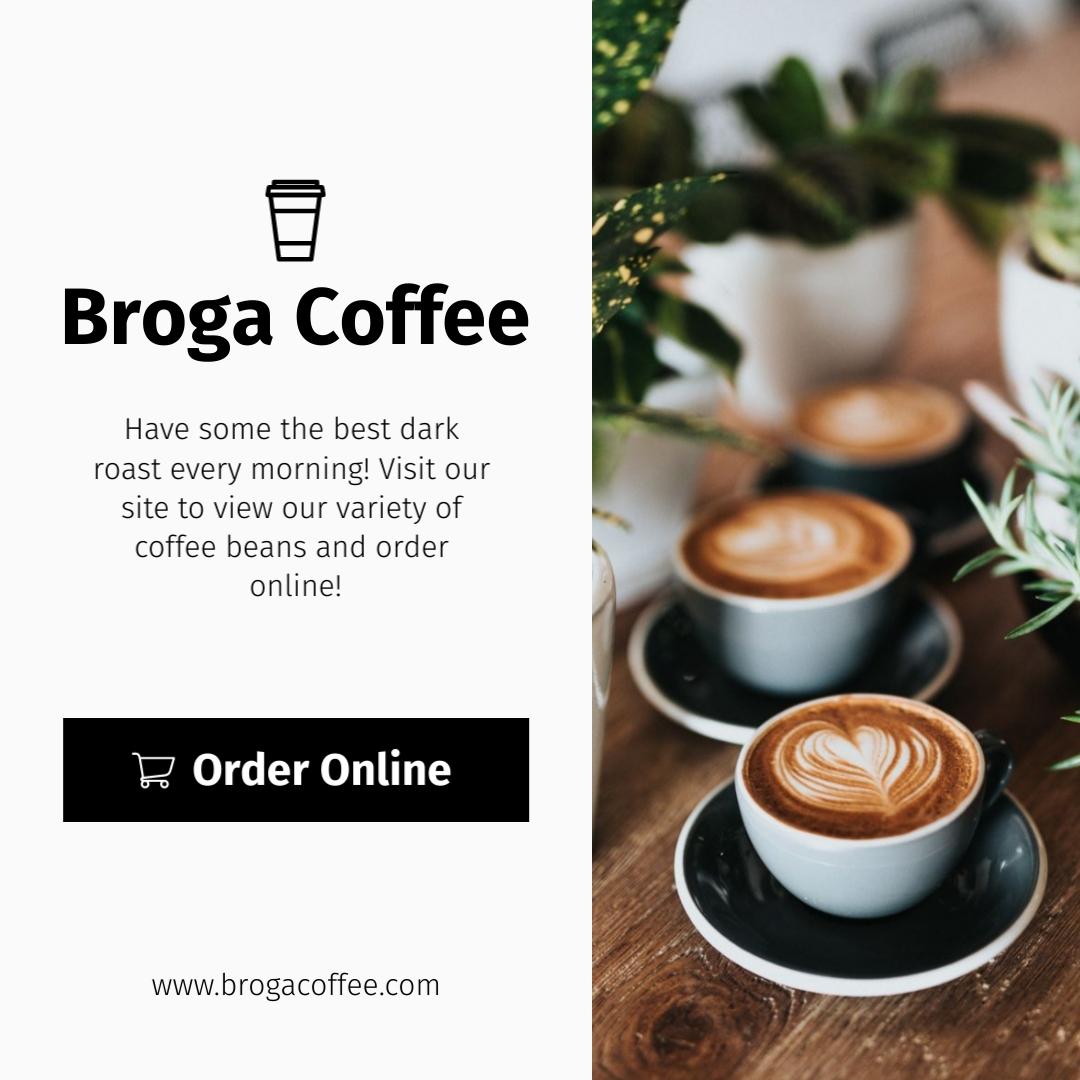 Broga Coffee Shop Square Template