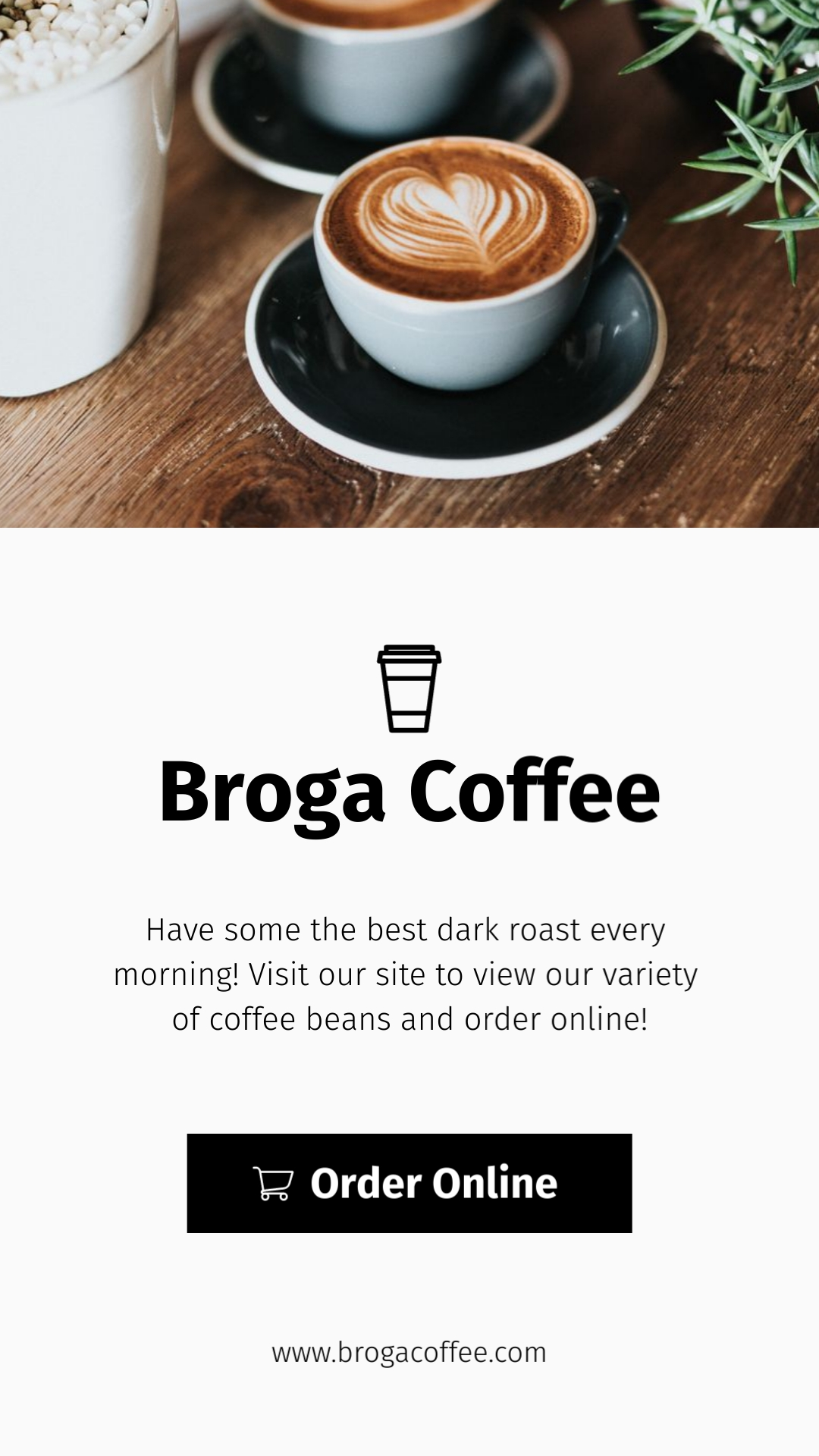Broga Coffee Shop Vertical Template