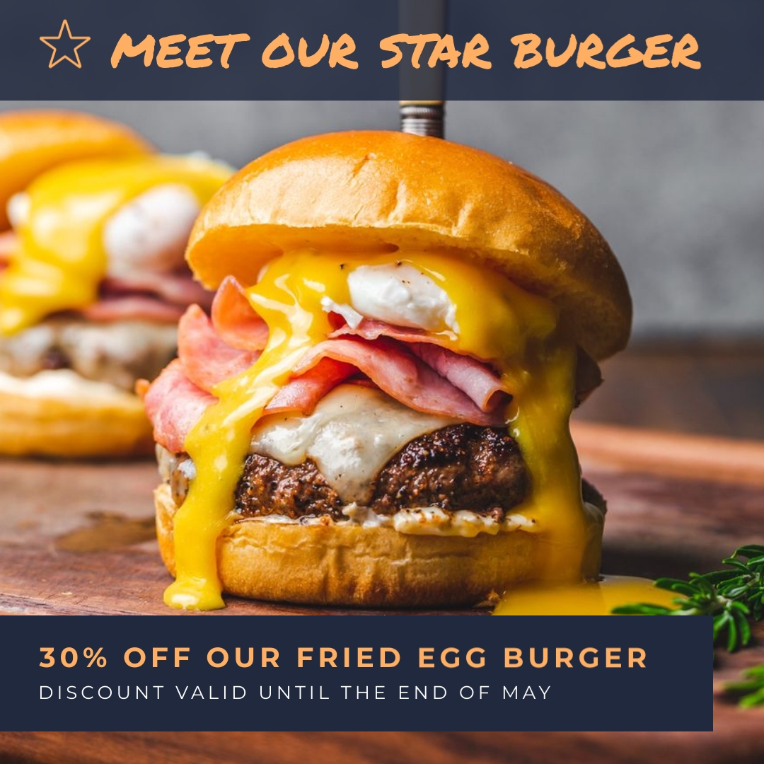 Burger Ad Animated Square Template