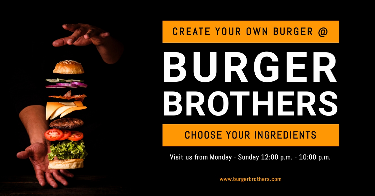 Burger Brothers Facbeook Ad Template