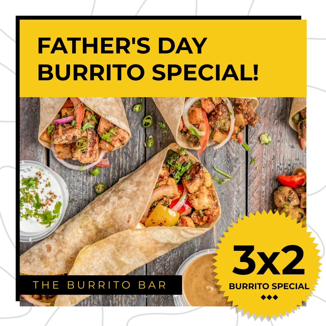 Burrito Special Fathers Day Animated Square Template