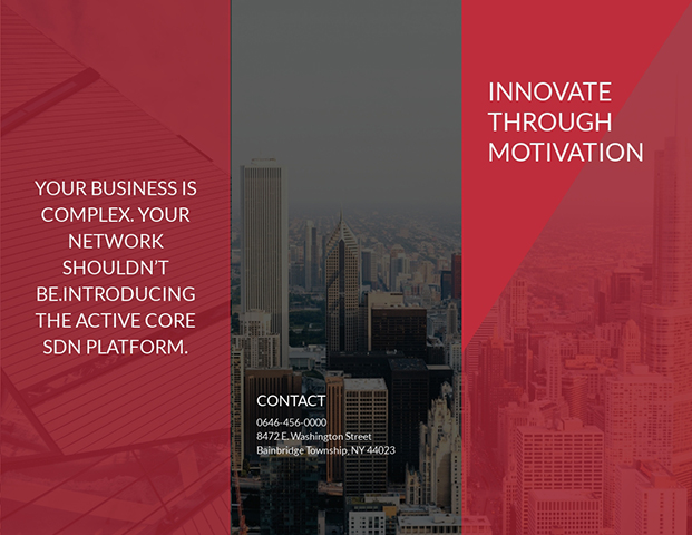 Innovate Through Motivation - Trifold Brochure Template