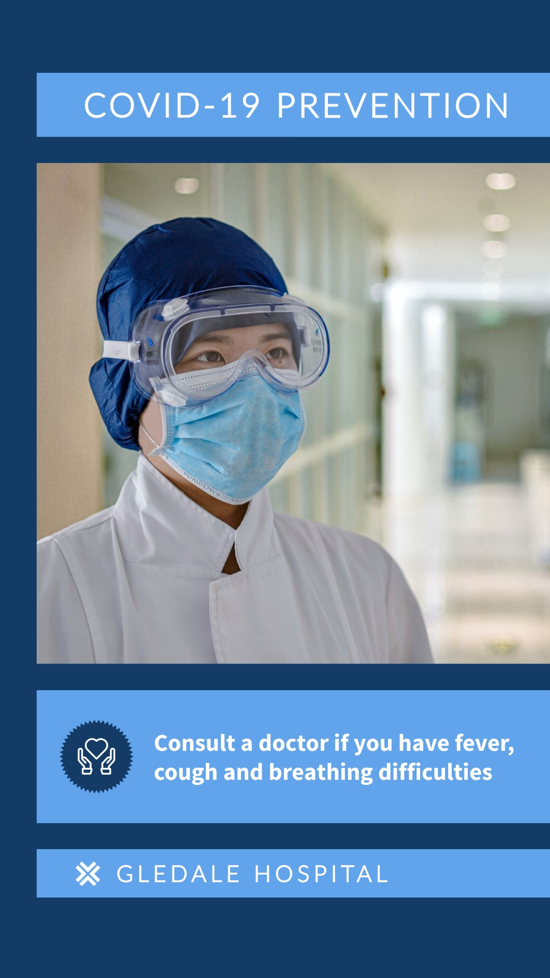COVID19 Visit Doctor Animated Vertical Template