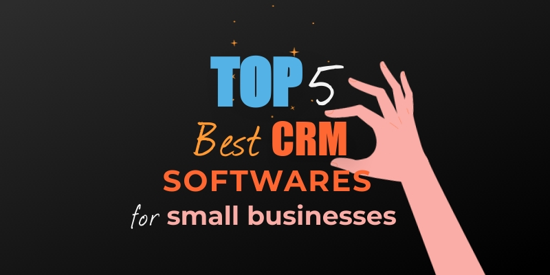 CRM Softwares for Small Businesses Blog Graphic Header Template