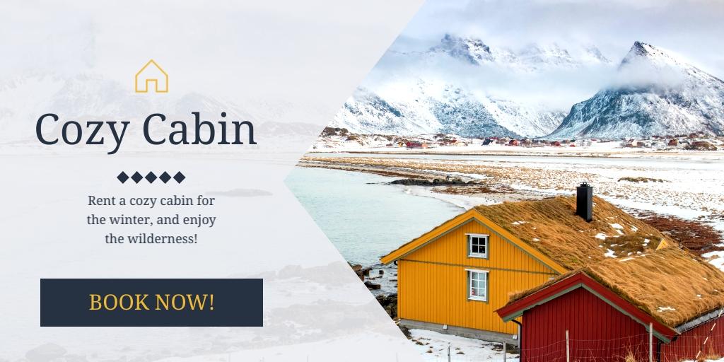 Cabin Rental - Twitter Ad Template