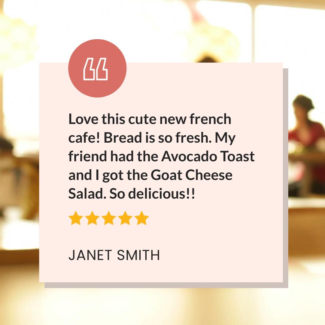 Cafe Reviews - Video Testimonial Square Template