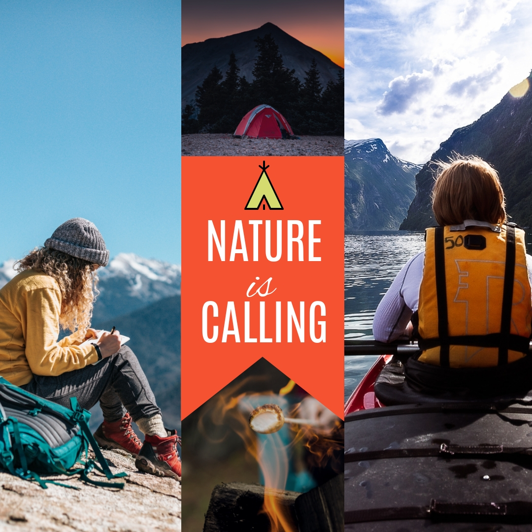 Camping Collage Template