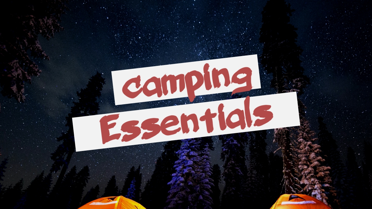 Camping Essentials Youtube Video Cover Template