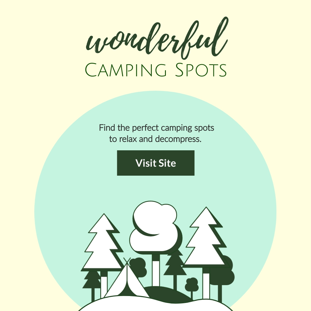 Camping Spots Square Template
