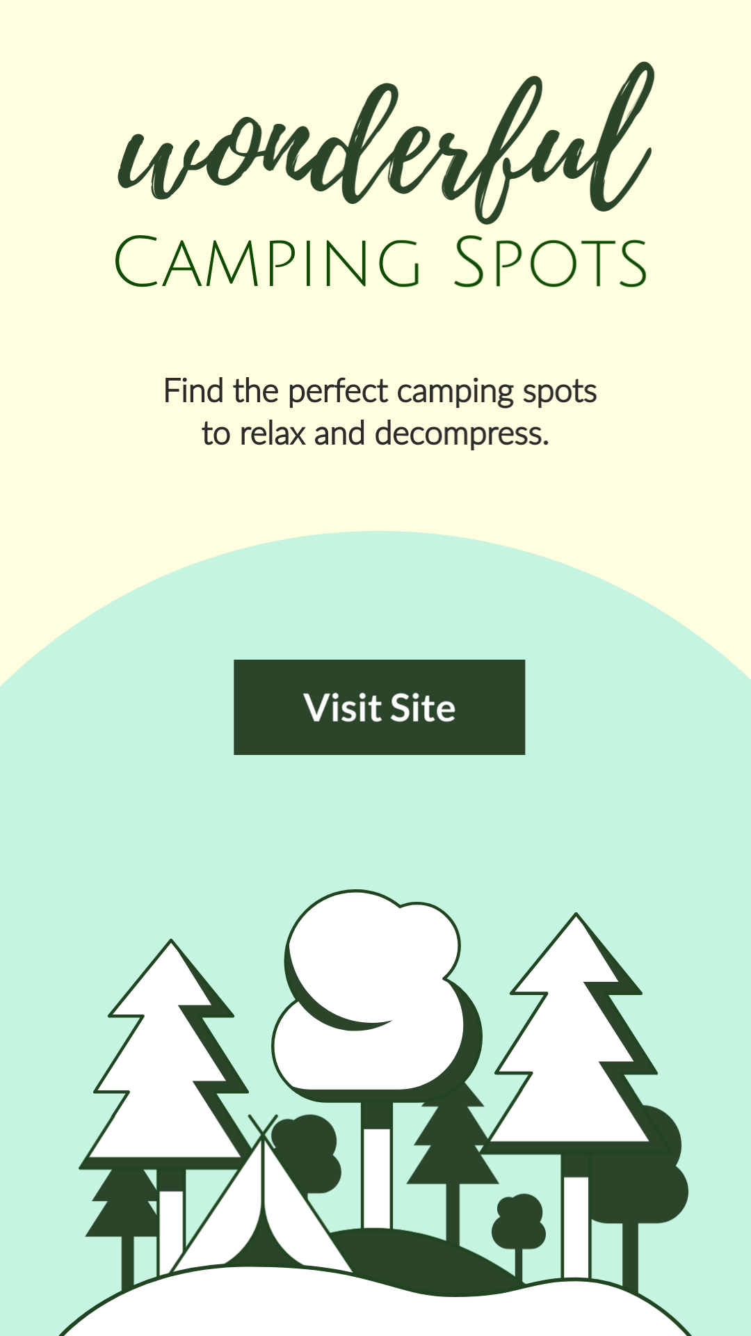 Camping Spots Vertical Template