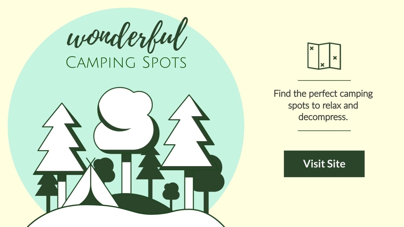 Wonderful Camping Spot - Twitter Ad Template