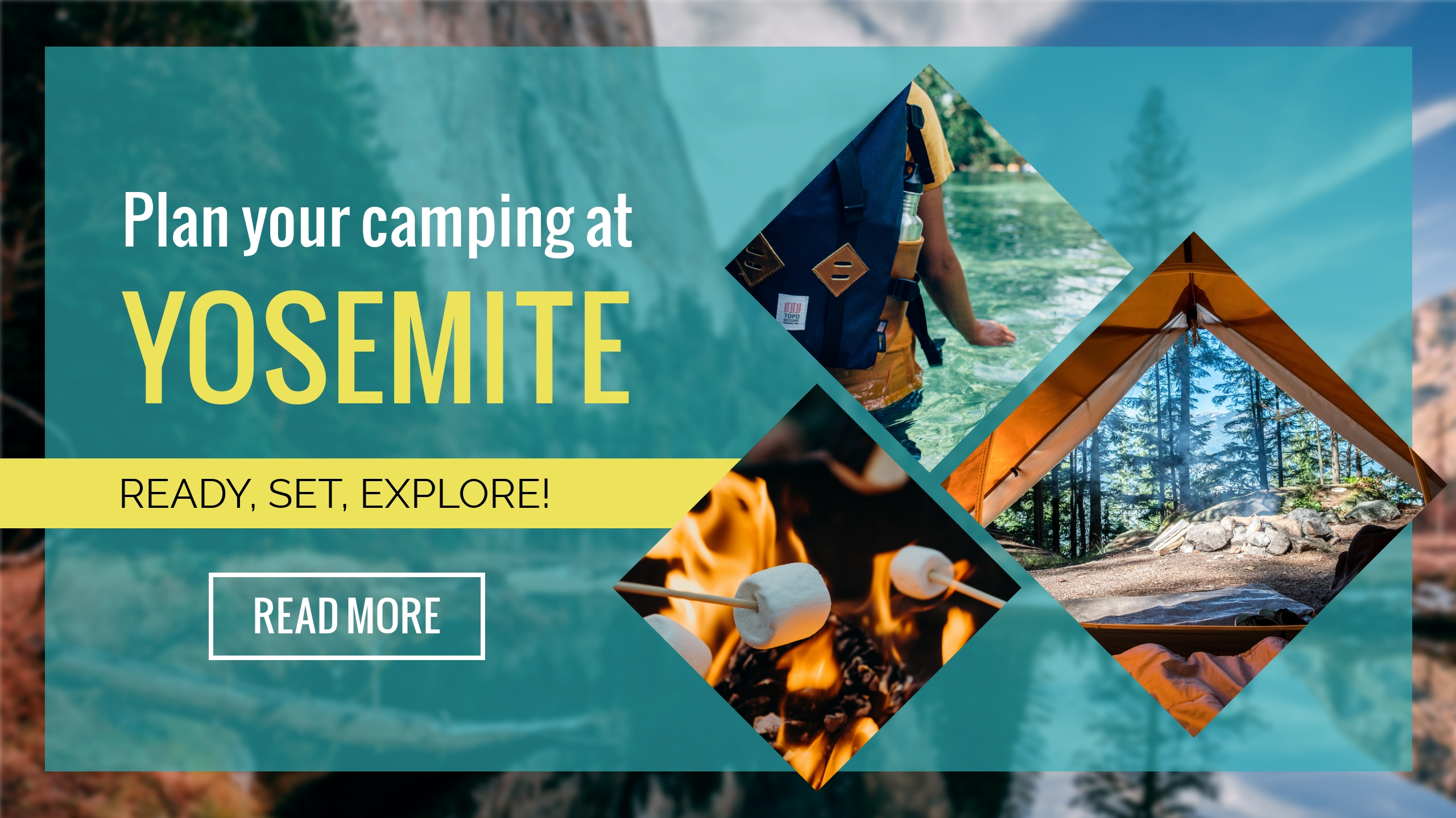 Camping Youtube Channel Art Template