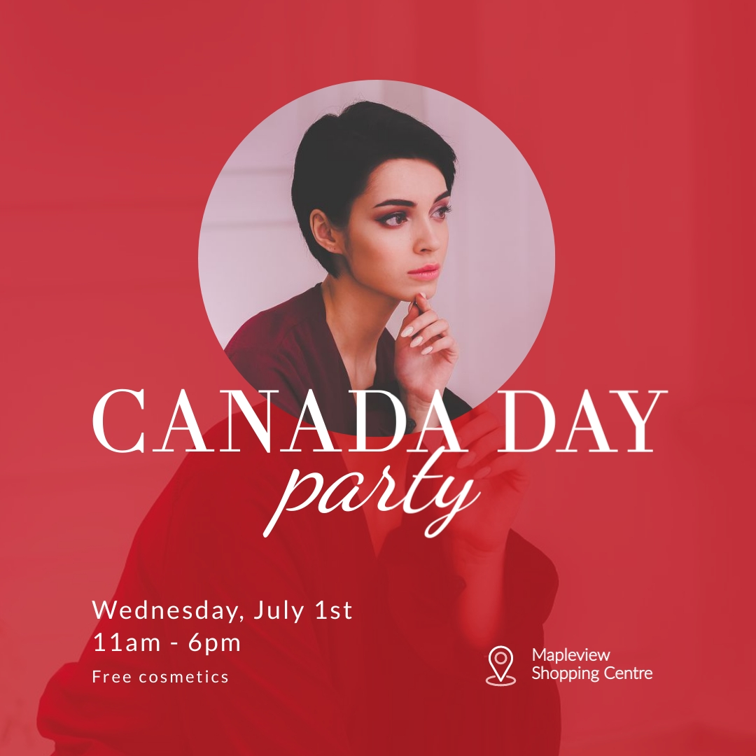 Canada Day Party Square Template