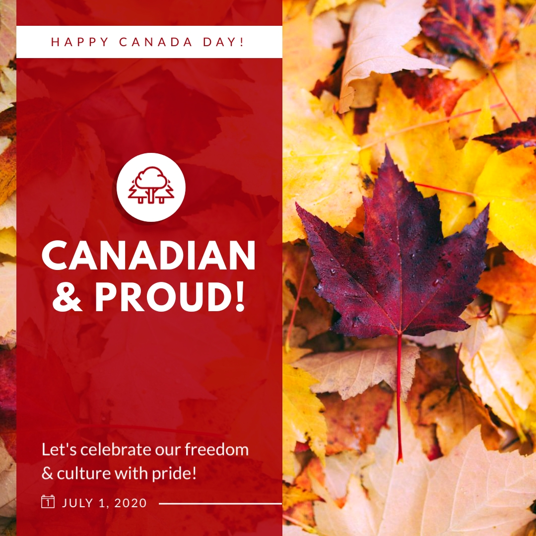 Canadian and Proud Animated Square Template