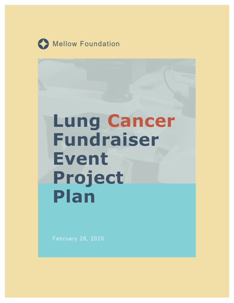 Cancer Fundraiser Project Plan Template