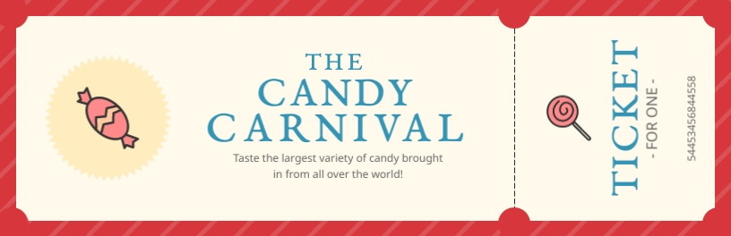 Candy Carnival Ticket Template