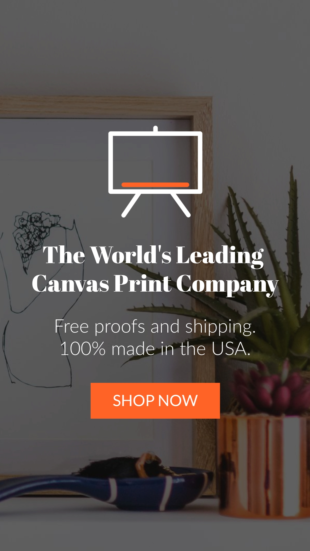 Canvas Printing Vertical Template