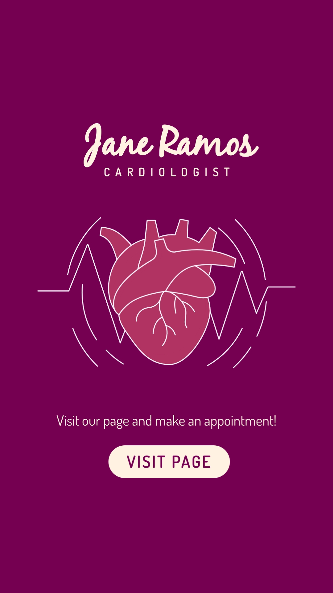Cardiologist Animated Vertical Template