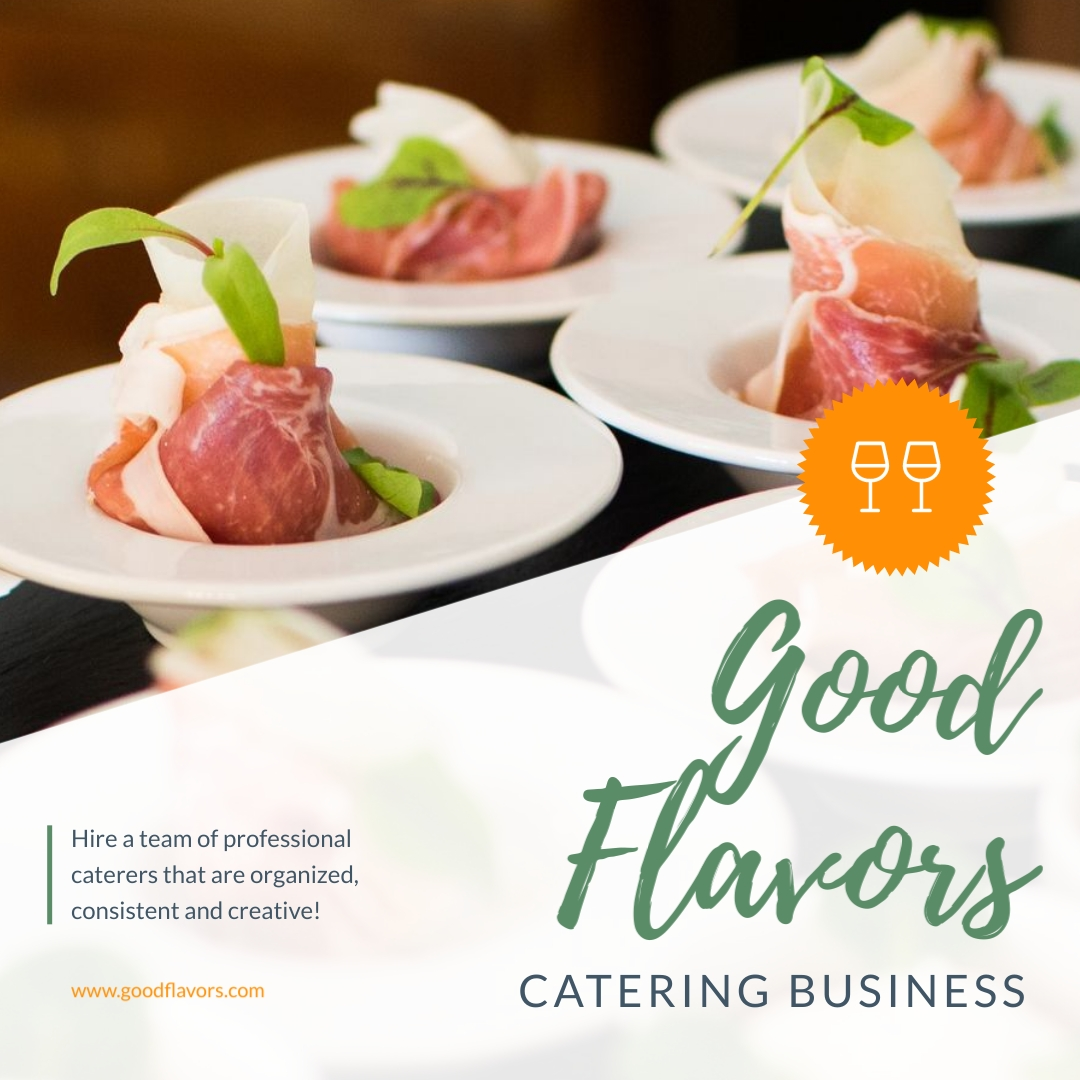 Catering Business Animated Square Template