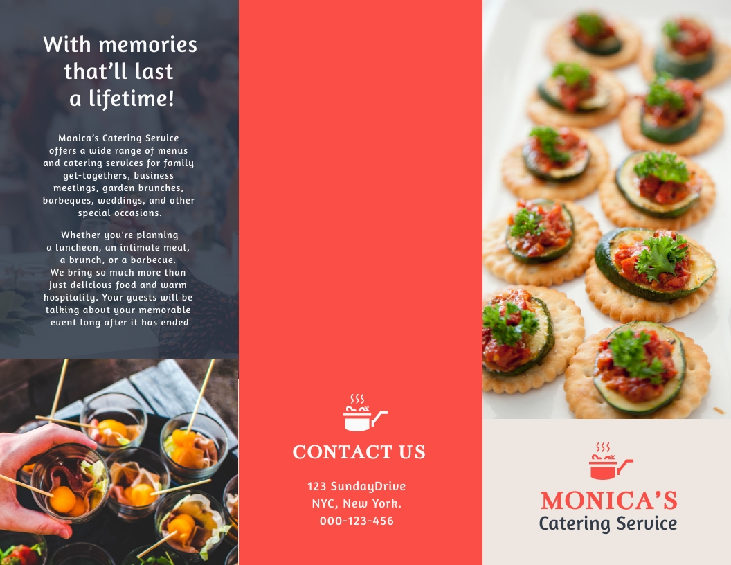 Catering - Trifold Brochure Template
