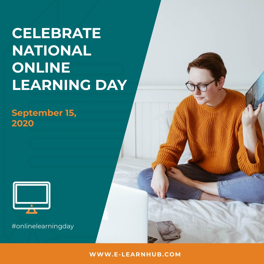 Celebrate Online Learning Day Animated Square Template
