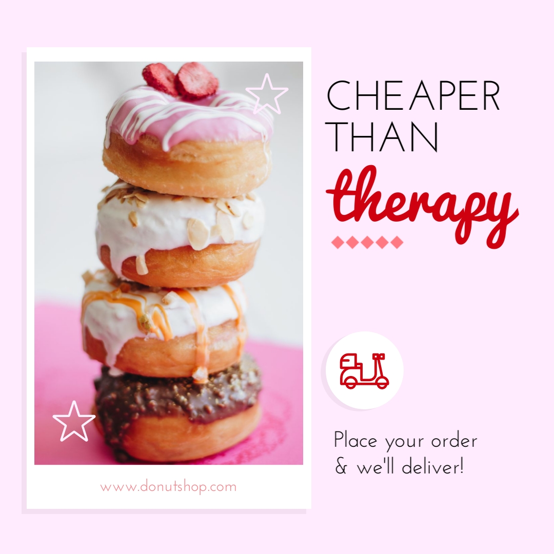 Cheaper Than Therapy Ad Animated Square Template
