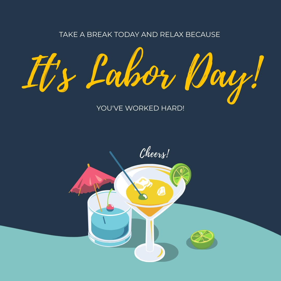 Cheers to Labor Day Animated Square Template