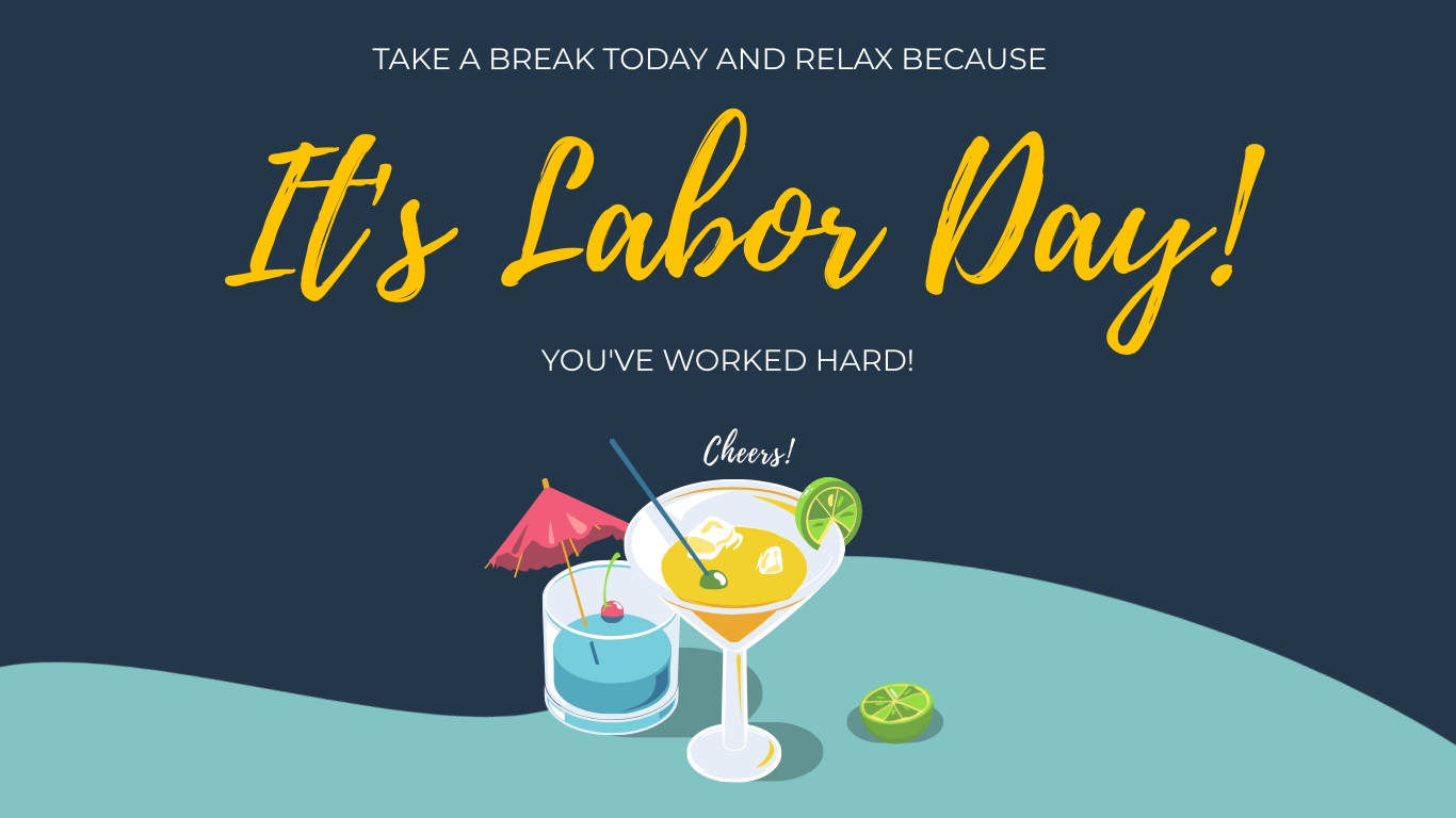 Cheers to Labor Day Animated Wide Template