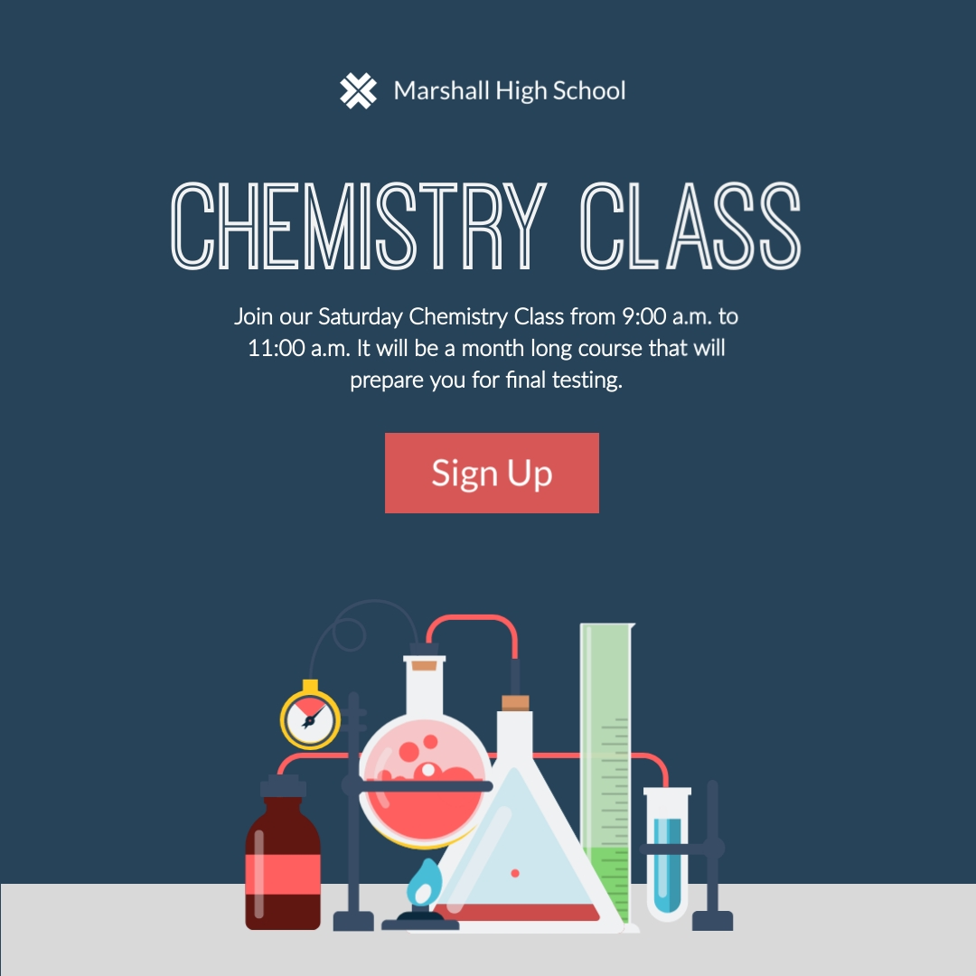Chemistry Class Square Template