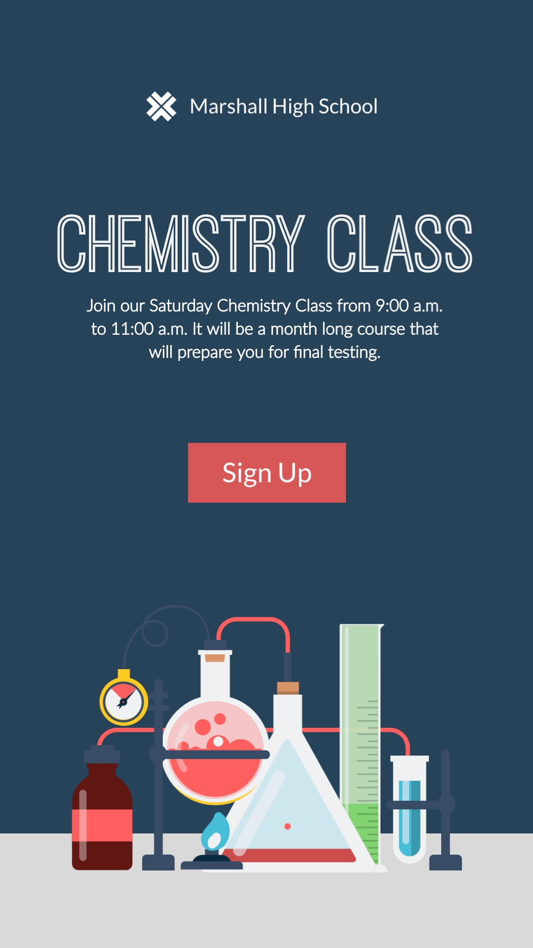 Chemistry Class Vertical Template