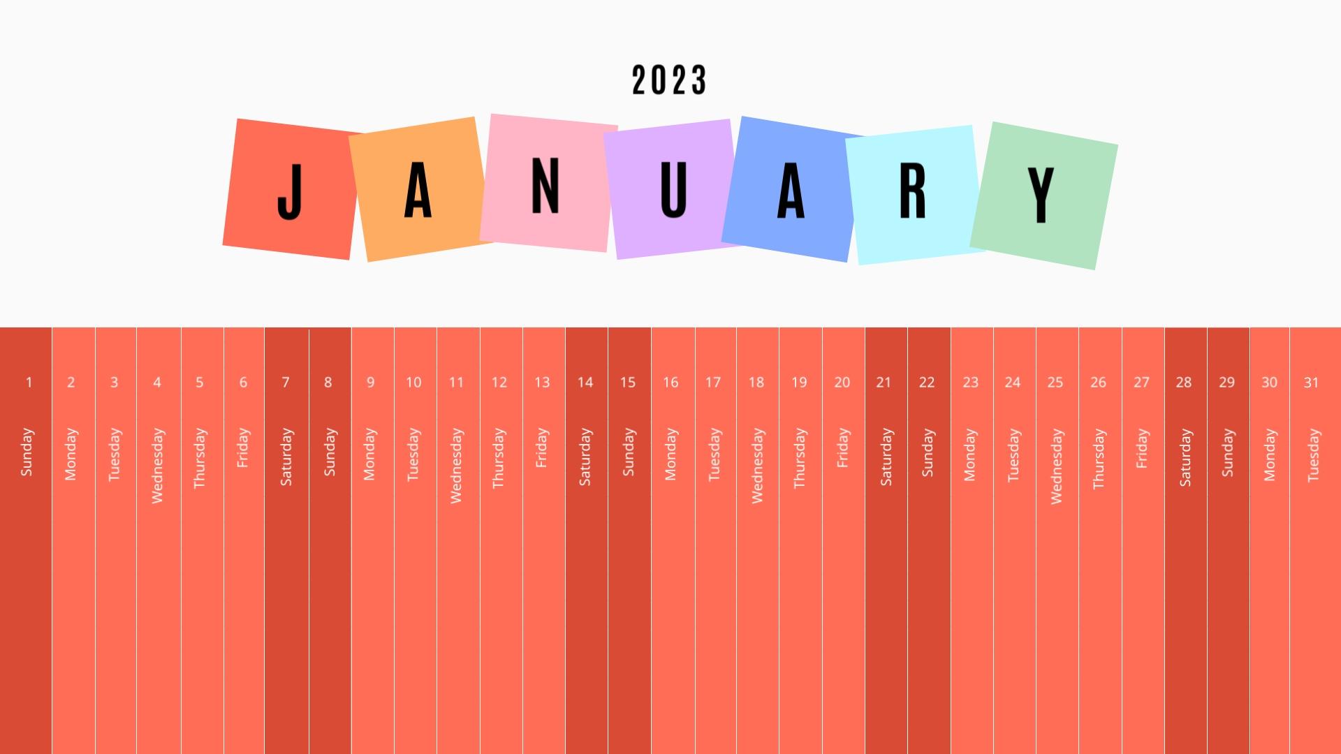 Kids - Calendar Template