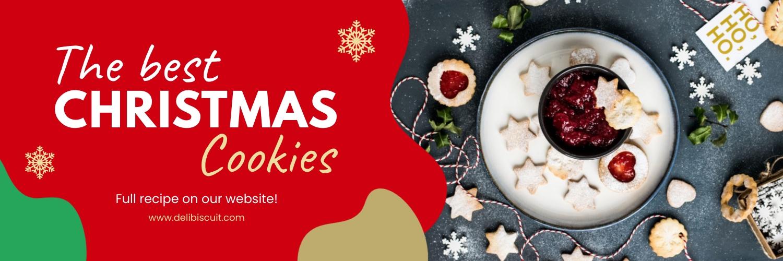 Christmas Cookies Twitter Header Template