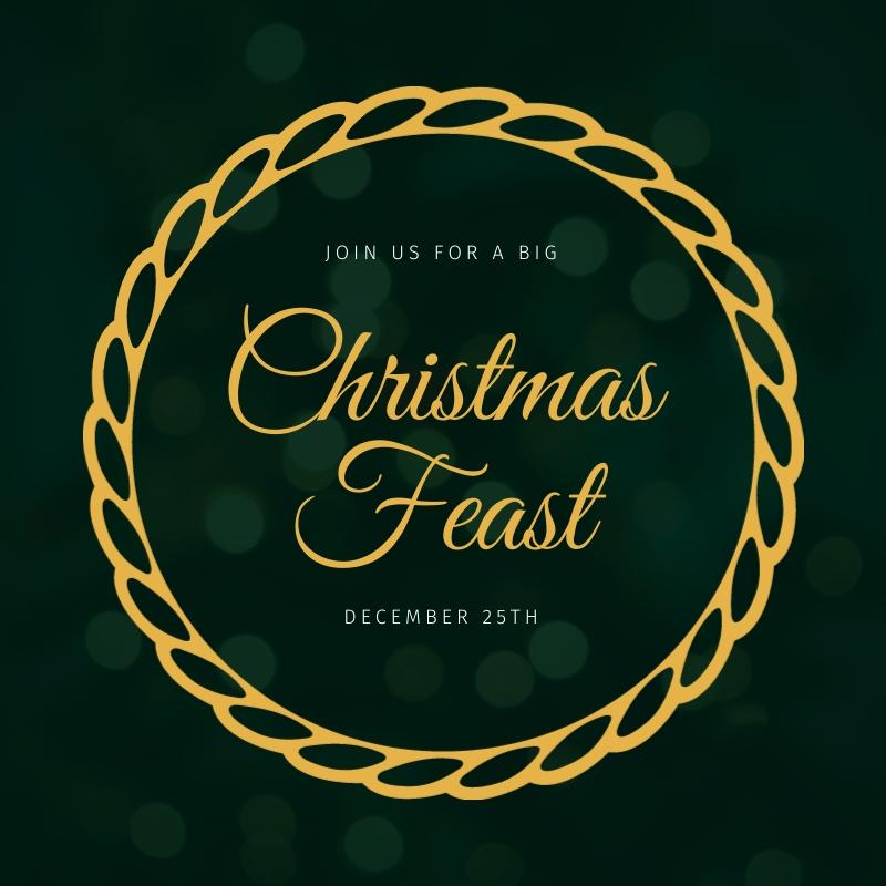 Christmas Feast Invitation Blog Graphic Medium  Template