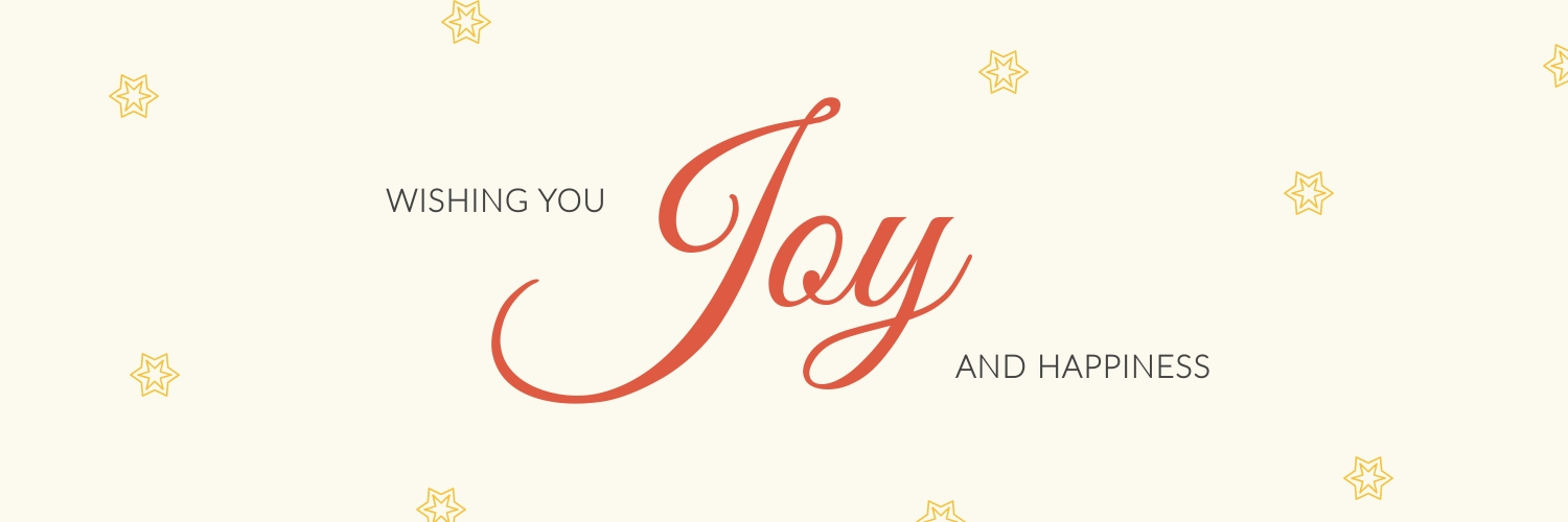 Christmas Joy and Happiness Twitter Header  Template