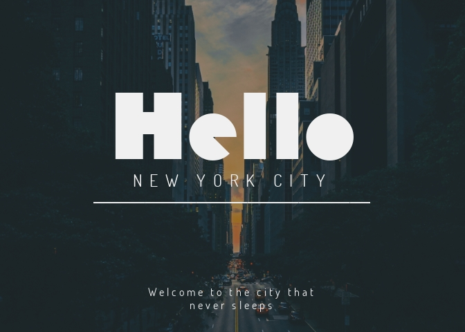 City Greeting Card Template