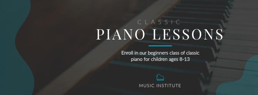 Classic Piano Facebook Cover  Template