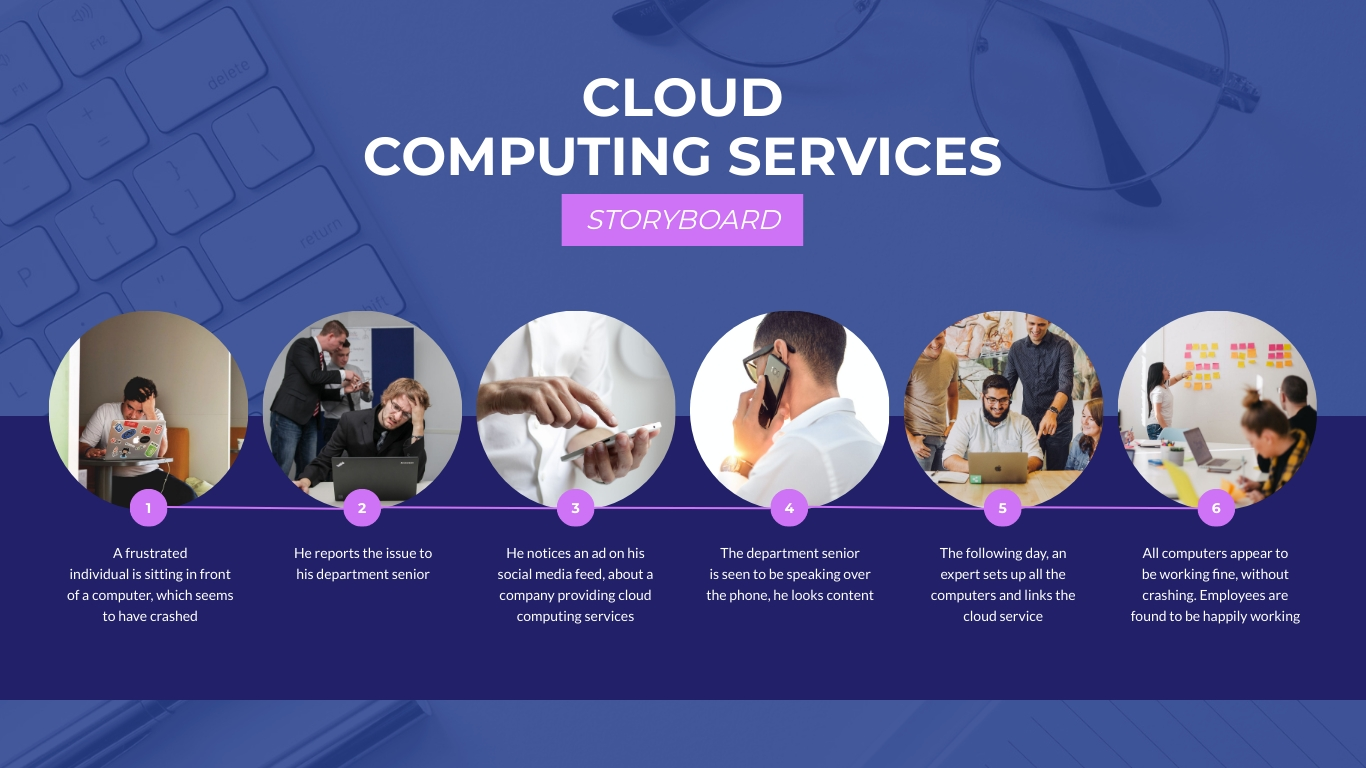 Cloud Computing Services Storyboard Template