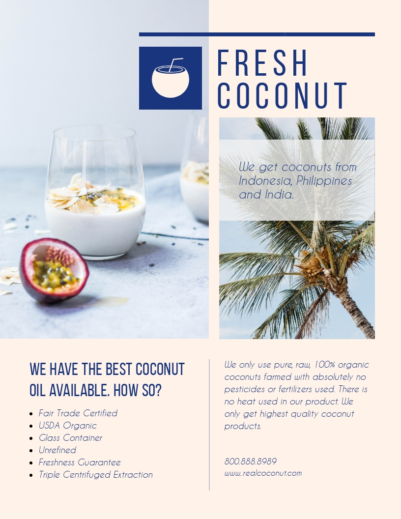 Coconut - Flyer Template