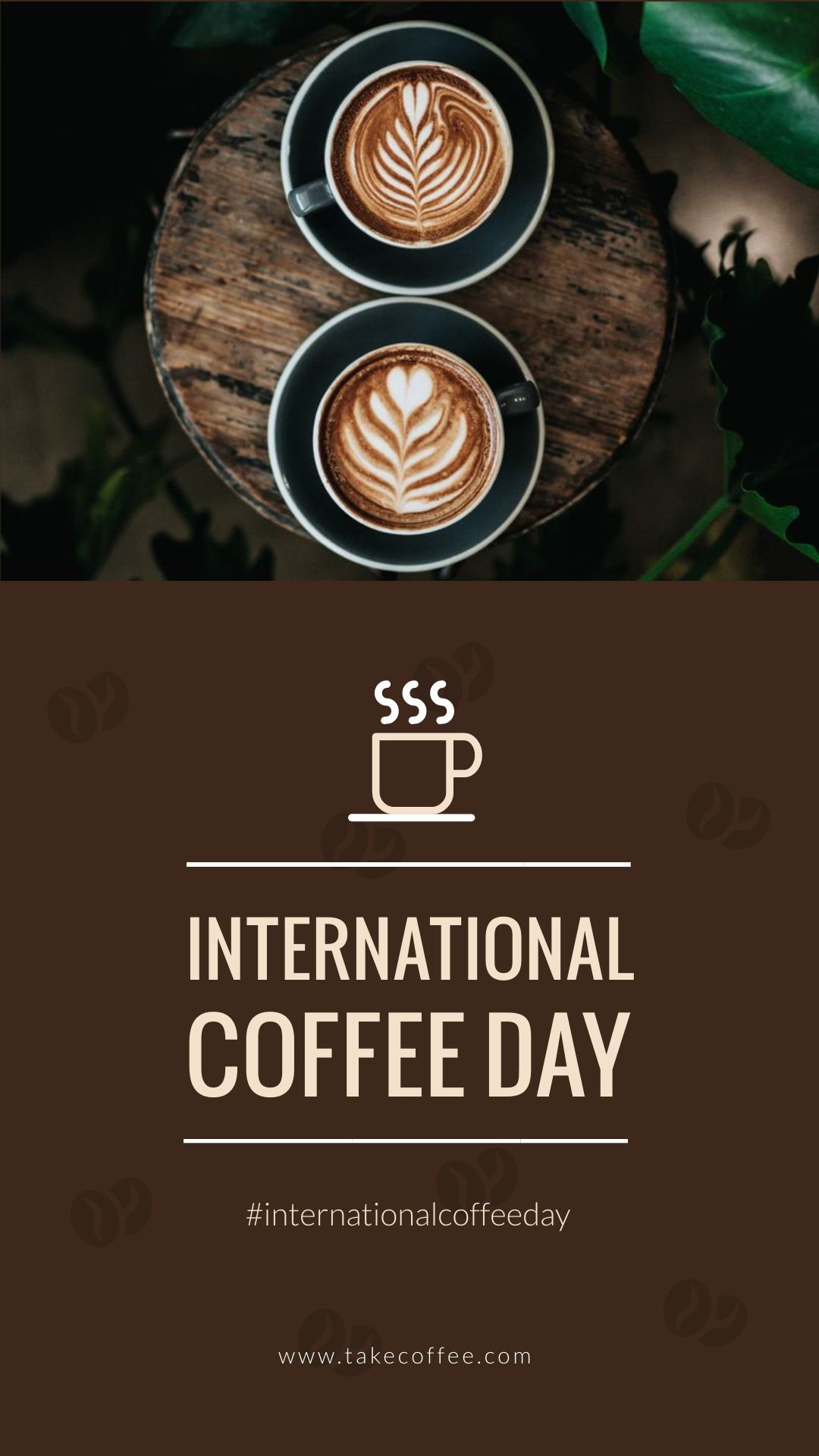 Coffee Day Animated Vertical Template