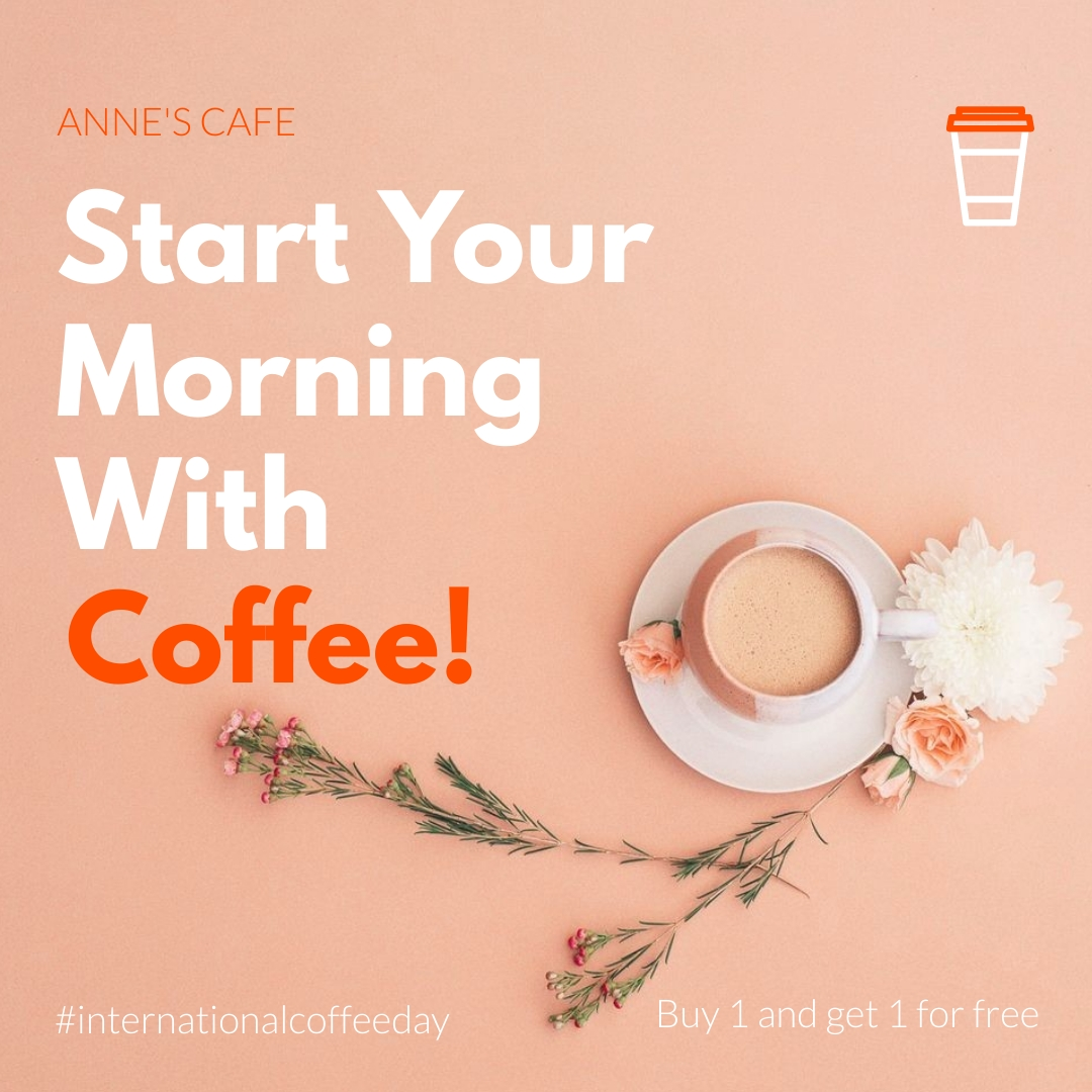 Coffee Day Offer Animated Square Template