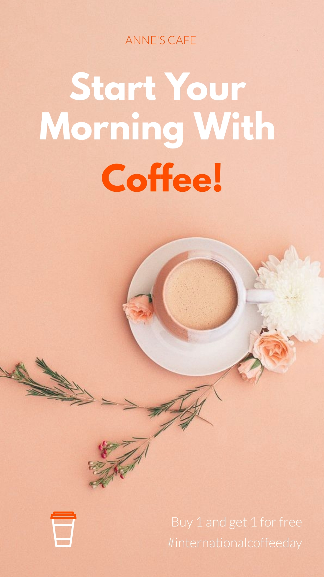Coffee Day Offer Animated Vertical Template