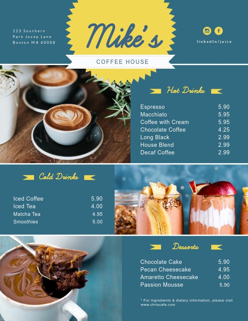 Coffee - Menu Template