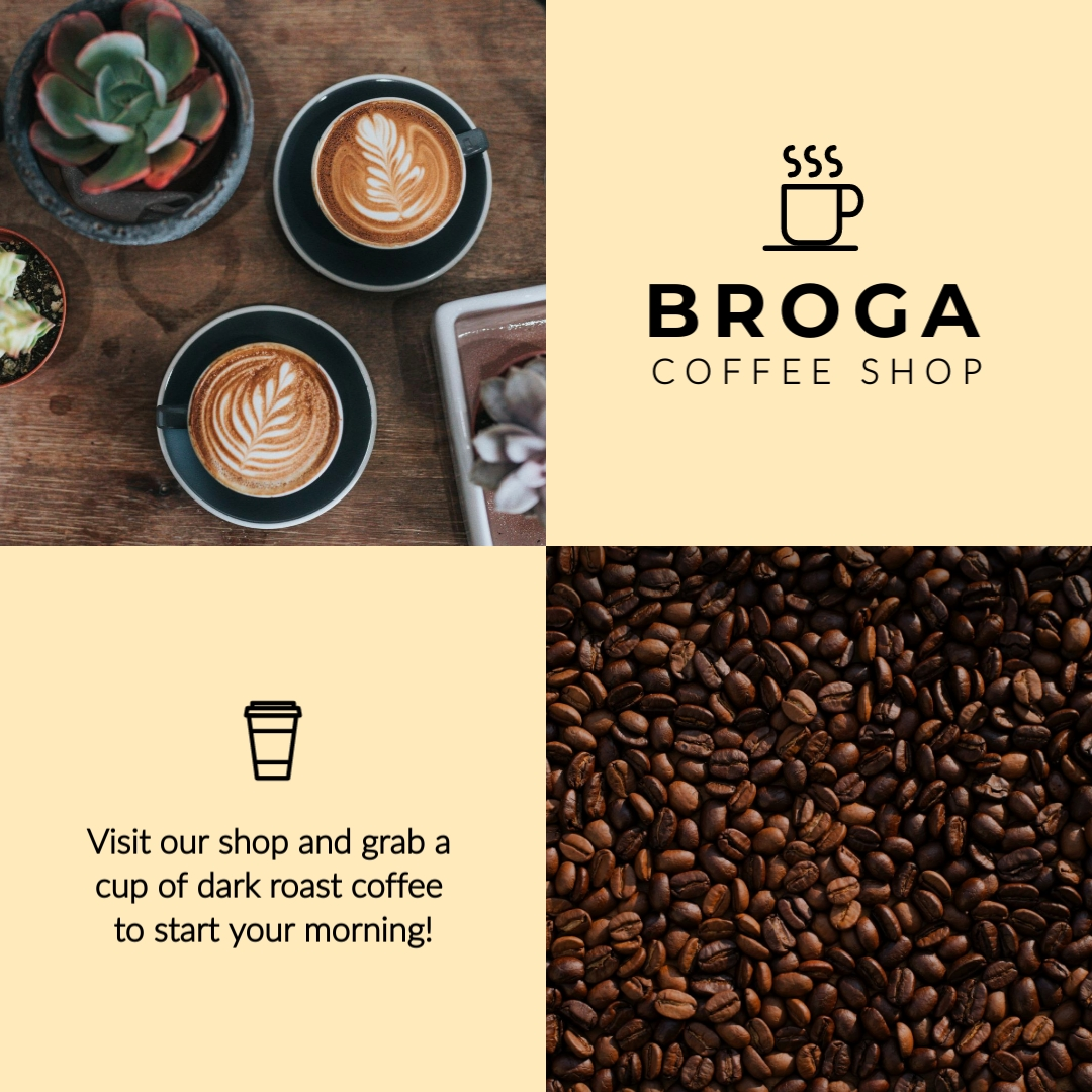 Coffee Shop Animated Square Template
