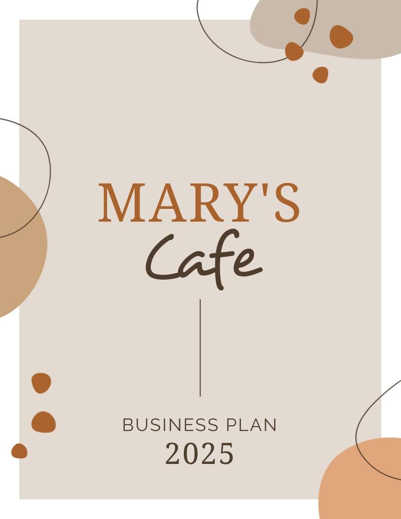 Coffee Shop - Business Plan Template