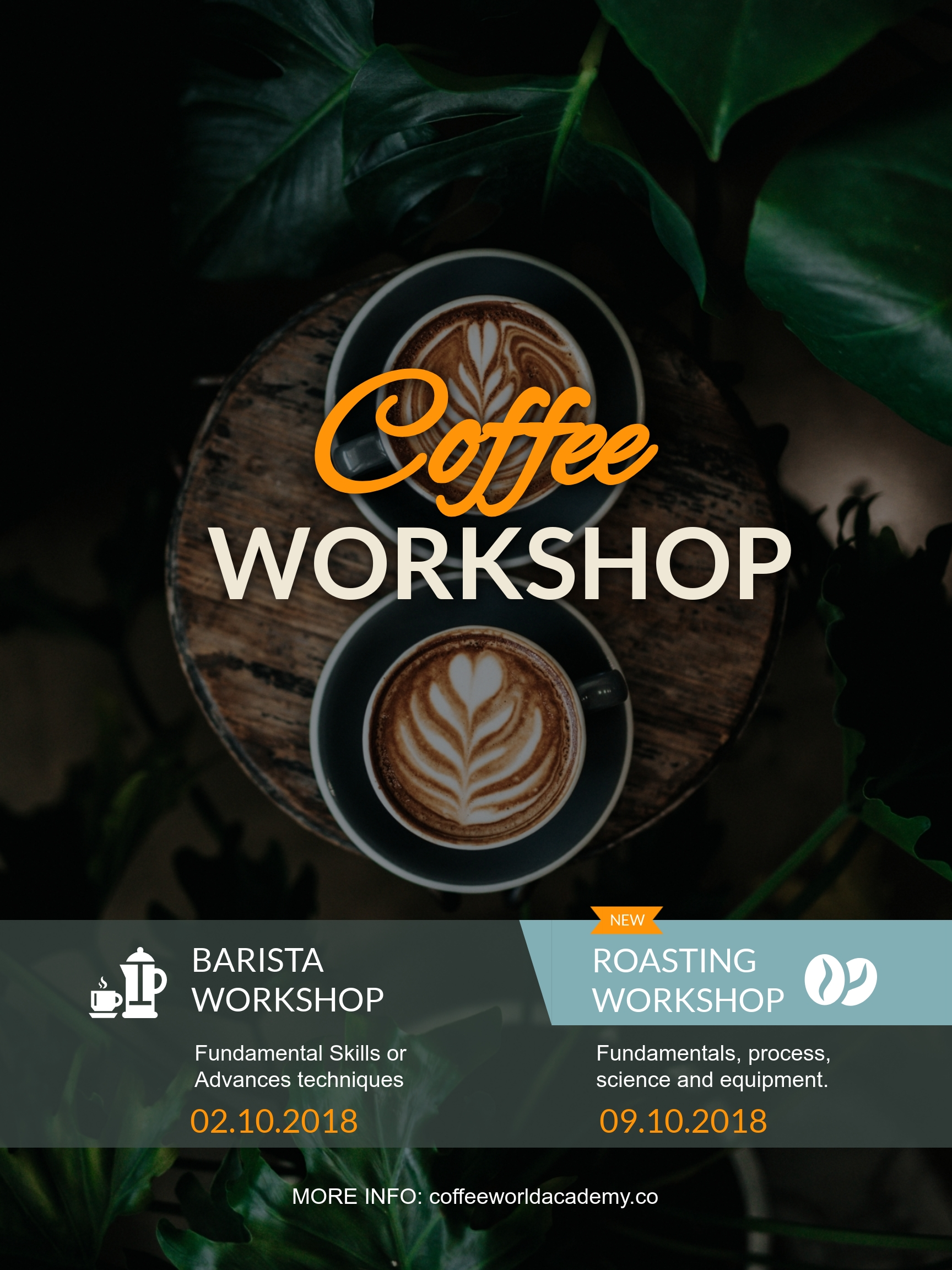 Coffee Workshop Poster Template