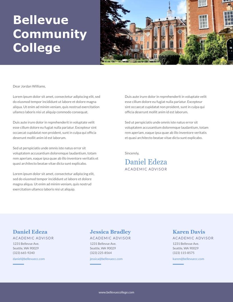 Community College - Letterhead Template
