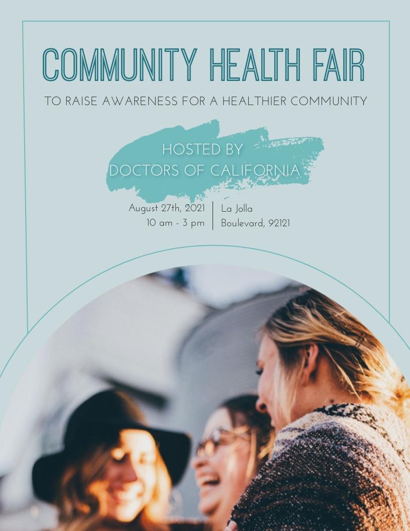 Community Health Fair Flyer Template